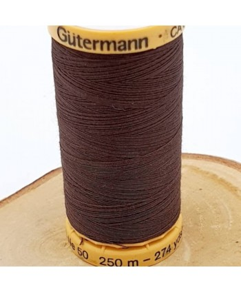 Fil à coudre 100% coton Gütermann 250m Marron Choco