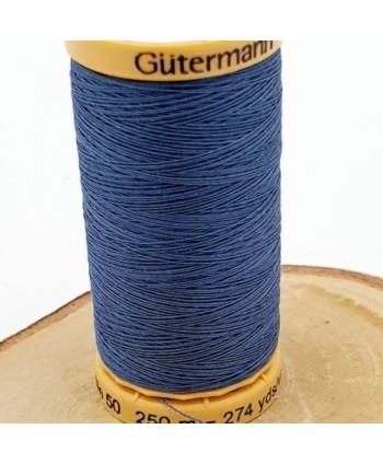 Fil à coudre 100% coton Gütermann 250m Bleu