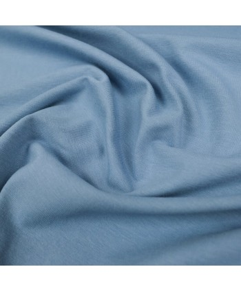 Jersey uni bio GOTS - Bleu