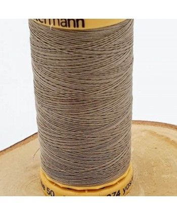 Fil à coudre 100% coton Gütermann 250m Taupe