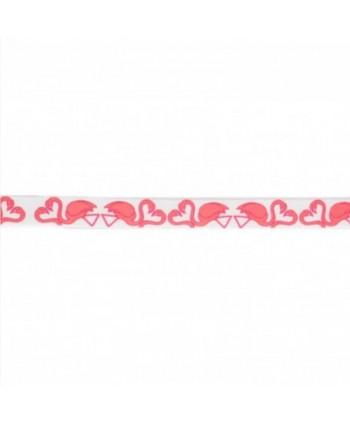 Ruban Fantaisie Flamant rose 10 mm