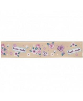 Ruban Fleurs Hand Made Beige 16 mm