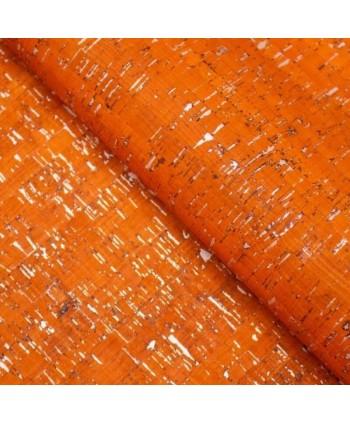 Liège luxe MB Cork Coupon 20*30 cm Orange argenté 3