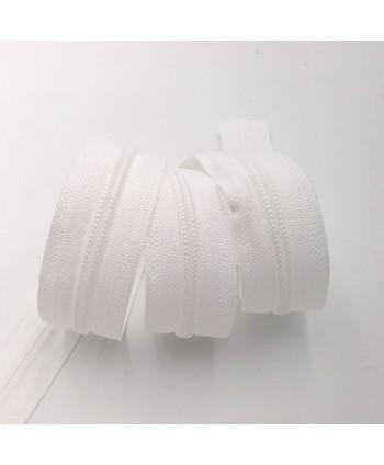 Fermeture au mètre YKK maille plastique 5 mm Blanc