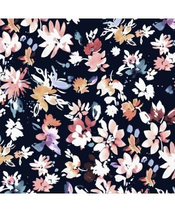 Tissu Dashwood Flourish Ace Lawn - By Helen Plowman Noir