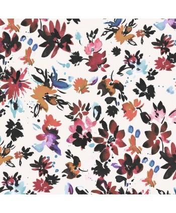 Tissu Dashwood Flourish Ace Lawn - By Helen Plowman Blanc
