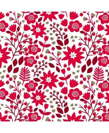 Tissu Dashwood - Starlit Hollow Metallic Red