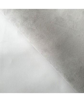 Suédine Kansas Blanc Argent