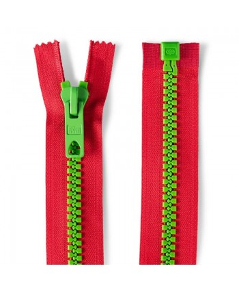Fermeture à glissière bicolore 40cm Rouge-vert Prym