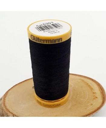 Fil à coudre 100% coton Gütermann 250m Noir