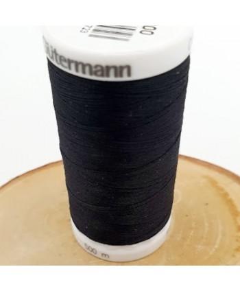 Fil à coudre 100% polyester Gütermann 500m Noir