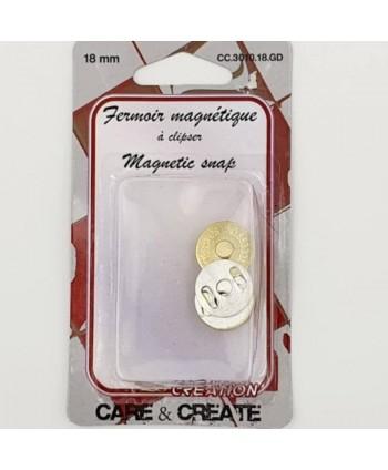 Fermoir magnétique 18mm Or