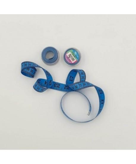 Centimètre couture avec boîte de rangement 150cm bleu