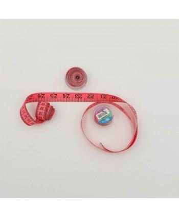 Centimètre couture avec boîte de rangement 150cm rose
