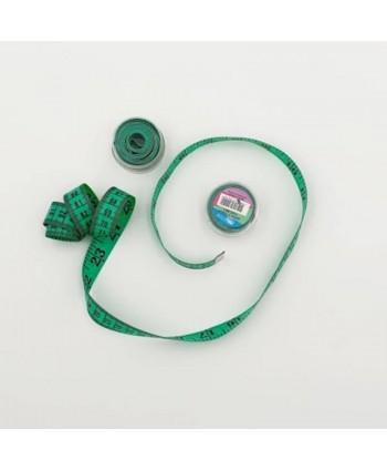 Centimètre couture avec boîte de rangement 150cm vert