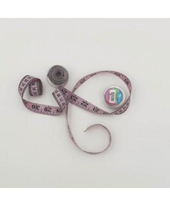 Centimètre couture avec boîte de rangement 150cm violet