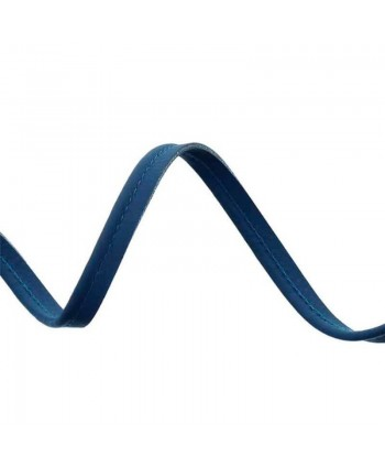 Passepoil simili cuir 10mm Bleu marine a
