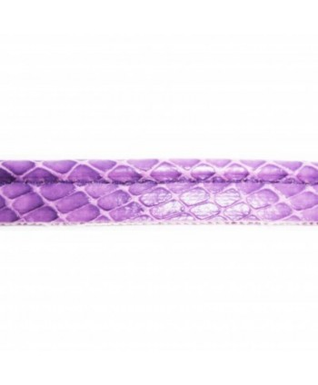 Passepoil simili cuir motif serpent 10mm Violet