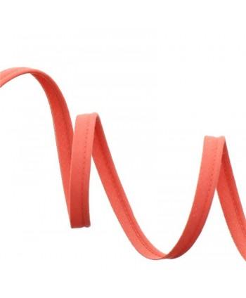 Passepoil tout textile 10mm Corail a